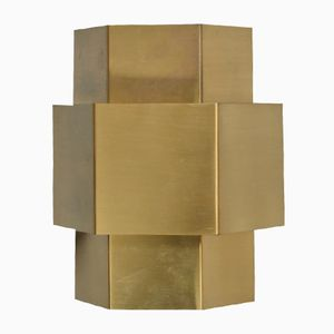 Brass Plated Sconce by Hoogervorst for Anvia, 1970s
