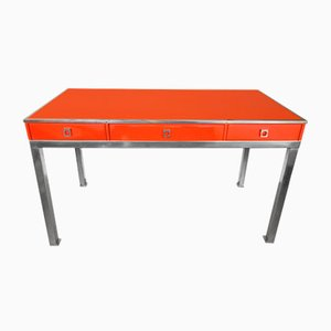 French Lacquered Desk by Guy Lefevre for Maison Jansen, 1970s