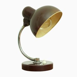 Small Brown German Metal Model 6722 Desk Lamp by Christian Dell for Kaiser Idell, 1930s