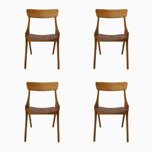 Dining Chairs by Arne Hovmand-Olsen for Mogens Kold, 1958, Set of 4