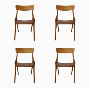 Esszimmerstühle von Arne Hovmand-Olsen für Mogens Kold, 1958, 4er Set
