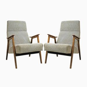 Vintage Czech Lounge Chairs, 1965, Set of 2