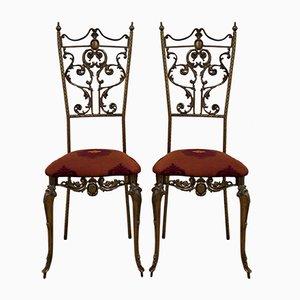 Italienische Stühle im Neoklassizistischen Stil, 1950er, 2er Set