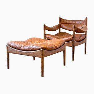 Vintage Modus Rosewood Lounge Chair & Ottoman by Kristian Vedel for Søren Willadsen