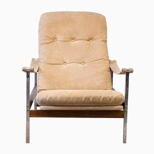 Lounge Chair in Rosewood and Metal from Dalen Møblar, 1960s
