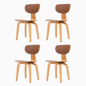 SB02 Dining Chairs by Cees Braakman for Pastoe, 1950s, Set of 4