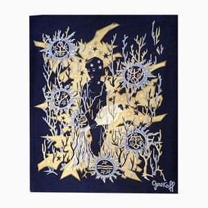 Tapisserie Aquarius Mid-Century par Élie Grekoff pour Tanit, 1950s