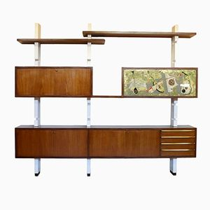 Mahogany Veneer Wall Unit, 1960s
