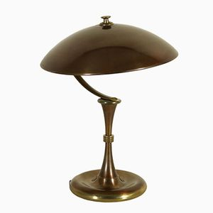 Brass and Burnished Aluminium Table Lamp, 1950s