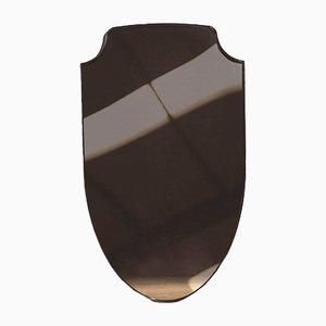 Bronze Spiegel in Wappenschildform von Richy Almond für NOVOCASTRIAN