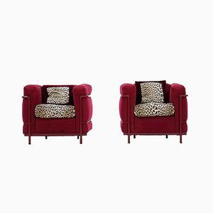 Vintage Sessel von Le Corbusier für Cassina, 2er Set