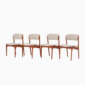 Model 49 Dining Chairs by Erik Buch for O.D Møbler, 1957, Set of 4