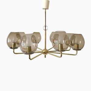 Deutsche Sputnik Deckenlampe, 1950er