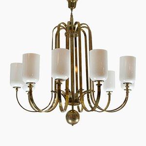 Vintage Art Deco Chandelier in Brass