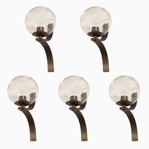 Wandlampen, 1950er, 5er Set