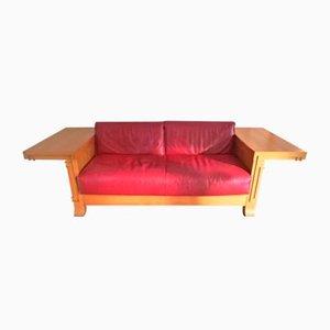 Robie 3-Sitzer Ledersofa von Frank Lloyd Wright für Cassina, 1989