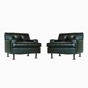Square Armchairs by Marco Zanuso for Arflex, 1962, Set of 2