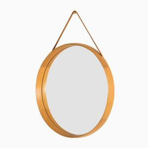 Teak Wall Mirror by Uno & Östen Kristiansson for Luxus, 1950s