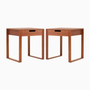 Swedish Teak Bedside Tables by Karl-Erik Ekselius for JOC Vetlanda, 1960s, Set of 2