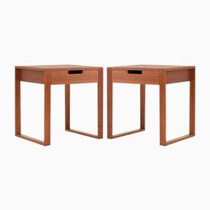 Tables de Chevet en Teck de J. O. Carlsson, Suède, 1960s, Set de 2