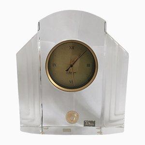Art Glas Uhr von Xavier Froissart für Daum, 1986