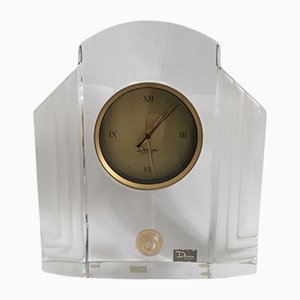 Art Glass Clock by Xavier Froissart for Daum, 1986