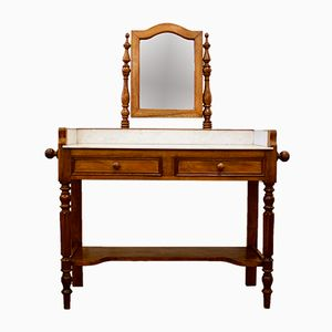 French Marble Top Dressing Table, 1910s