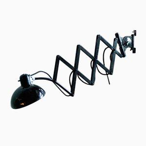 Vintage Black 6614 Scissor Lamp by Christian Dell for Kaiser Idell
