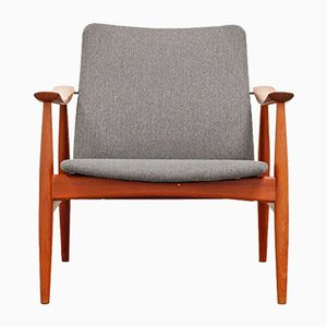 No. 138 Teak Lounge Chair by Finn Juhl for France & Søn, 1960s