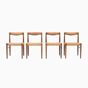 Mid-Century Dining Chairs by Henry W. Klein for Bramin, Set of 4