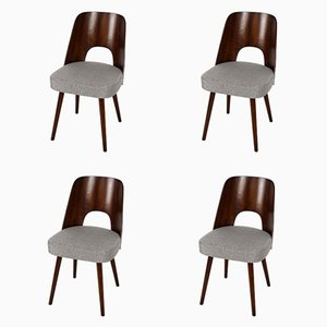 Czech Plywood Chairs by Oswald Haerdtl for TON, 1950s, Set of 4