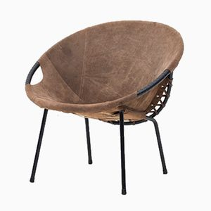 Mid-Century Circle Balloon Chair by Lusch Erzeugnis for Lusch & Co