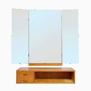 Ash Dresser & Wardrobe with Mirror, 1950s