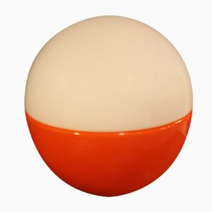 Runde Glas Tischlampe, 1960er