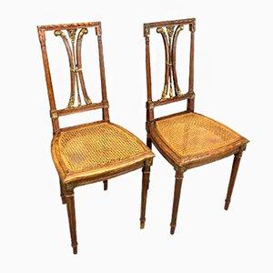 Vintage Eichenholz Esszimmerstühle, 2er Set