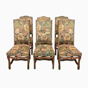 Eichenholz Stühle, 1950er, 6er Set