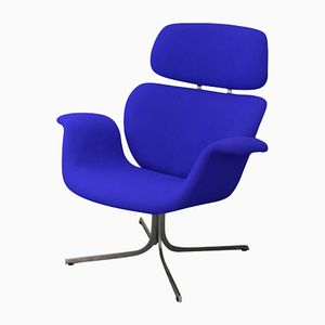 Blue Big Tulip Lounge Chair by Pierre Paulin for Artifort, 1965