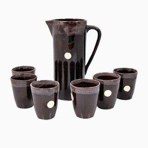 Trink Set von Harzer Keramik Ilsenberg, 1970er