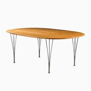 Super Ellipse Table in Rosewood by Arne Jacobsen & Piet Hein for Karl Mathsson, 1980s
