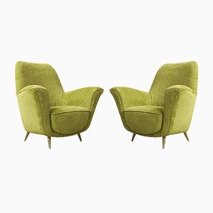 Italian Armchairs by Ico Parisi for ISA, 1950s, Set of 2