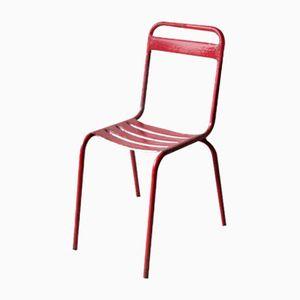 Vintage Red Metal Chair