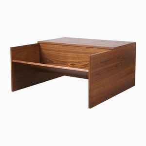 Square Coffee Table with Shelf, 1960s