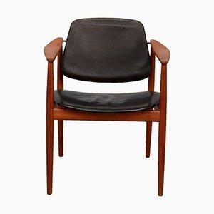 Modell BO62 Teak Stuhl von Arne Vodder für Bovirke, 1950er