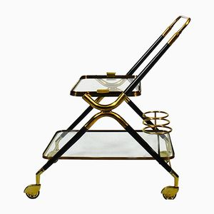 Mid-Century Italian Bar Cart by Cesare Lacca, 1950s