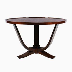 Belgian Art Deco Mahogany Table, 1930s
