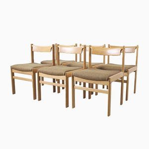 Oak Chairs by Henry W. Klein for Bramin, 1970s, Set of 6