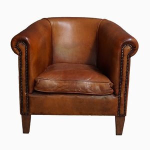 Vintage Dutch Leather Club Chair, 1970s