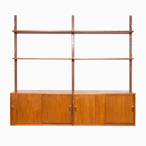 Teak Shelving System with Brass by Sven Ellekaer for Albert Hansen, 1950s