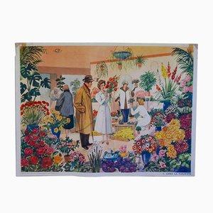 Mid-Century Florist School Poster