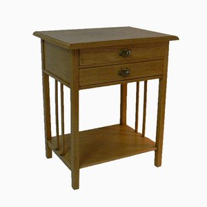 Antique German Oak Sewing Table